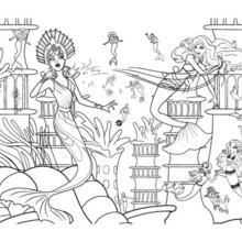 Dibujo para colorear : las sirenas ERIS y MERLIAH
