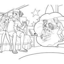 Dibujo para colorear : MERLIAH con su abuelo