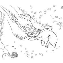 Dibujo para colorear : MERLIAH de sirena con ZUMA