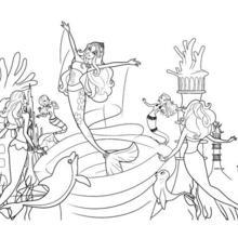 Dibujo para colorear : MERLIAH escapandose del remolino