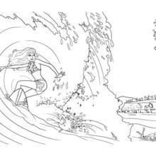 Dibujo para colorear : MERLIAH surfenado