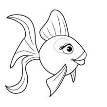 Dibujo para colorear : Pez tropical