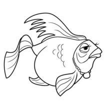 Dibujo para colorear : un PEZ de Oceana