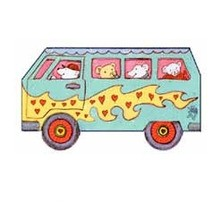 Manualidad infantil : Autobús del Amor