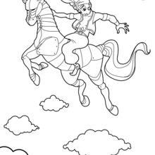 Dibujo para colorear : El caballo hechizado