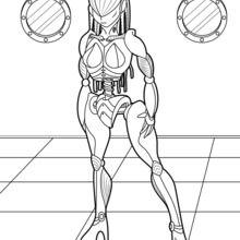 Dibujo para colorear : Robot femenino