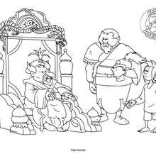 Dibujo para colorear : Los exploradores y el Maharajá
