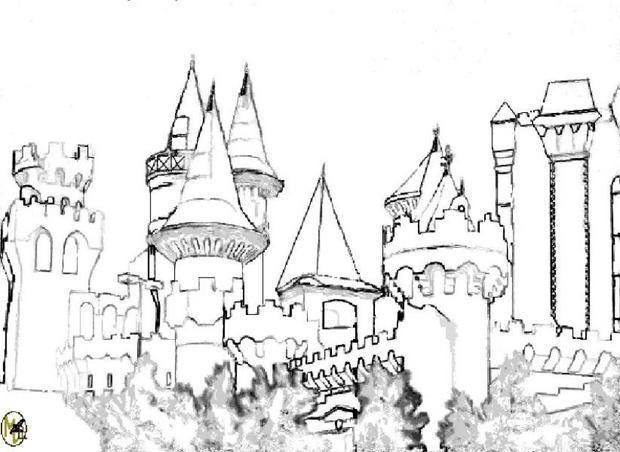 Dibujos para colorear el castillo de melusina - es ...
