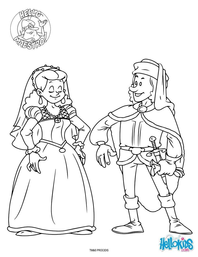 Dibujos Para Colorear Los Reyes Católicos Es Hellokids Com