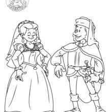 Dibujo para colorear : Los Reyes Católicos