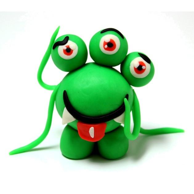 Manualidad infantil : Alienígenas de Plastilina