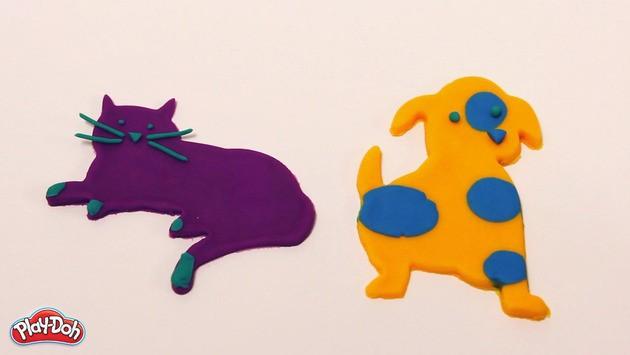 Manualidad infantil : Mascotas en plastilina