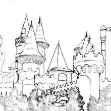 Dibujo para colorear : El castillo de Melusina