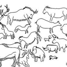 Dibujo para colorear : pintura de animales