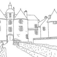 Dibujo para colorear : Un castillo francés