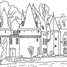 Dibujo para colorear : Un castillo