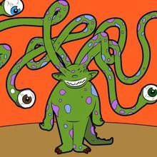 Truco para dibujar en vídeo : L'extraterrestre tentaculaire