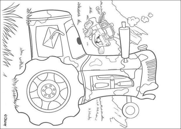 Cars Kleurplaat Finn Dibujos Para Colorear Cars 40 Es Hellokids Com