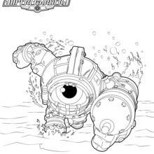 Dibujo para colorear : Dive Clops