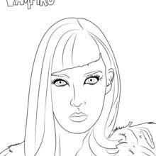 Dibujo para colorear : Catalina de Chica Vampiro