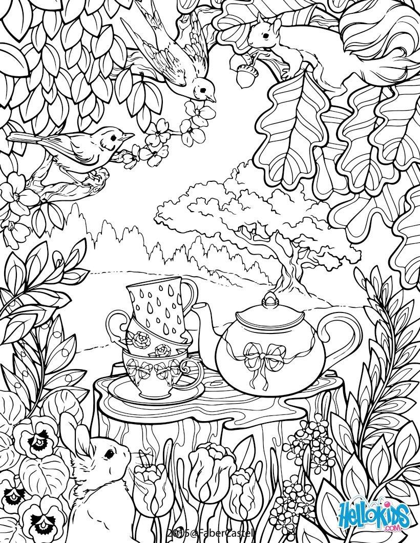 Dibujos para colorear mandala el jardìn secreto - es.hellokids.com
