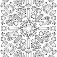 Dibujo para colorear : Mandala gráfico