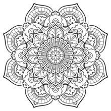 Dibujo para colorear : Mandala Vintage
