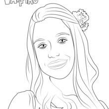 Dibujo para colorear : Marylin de Chica Vampiro