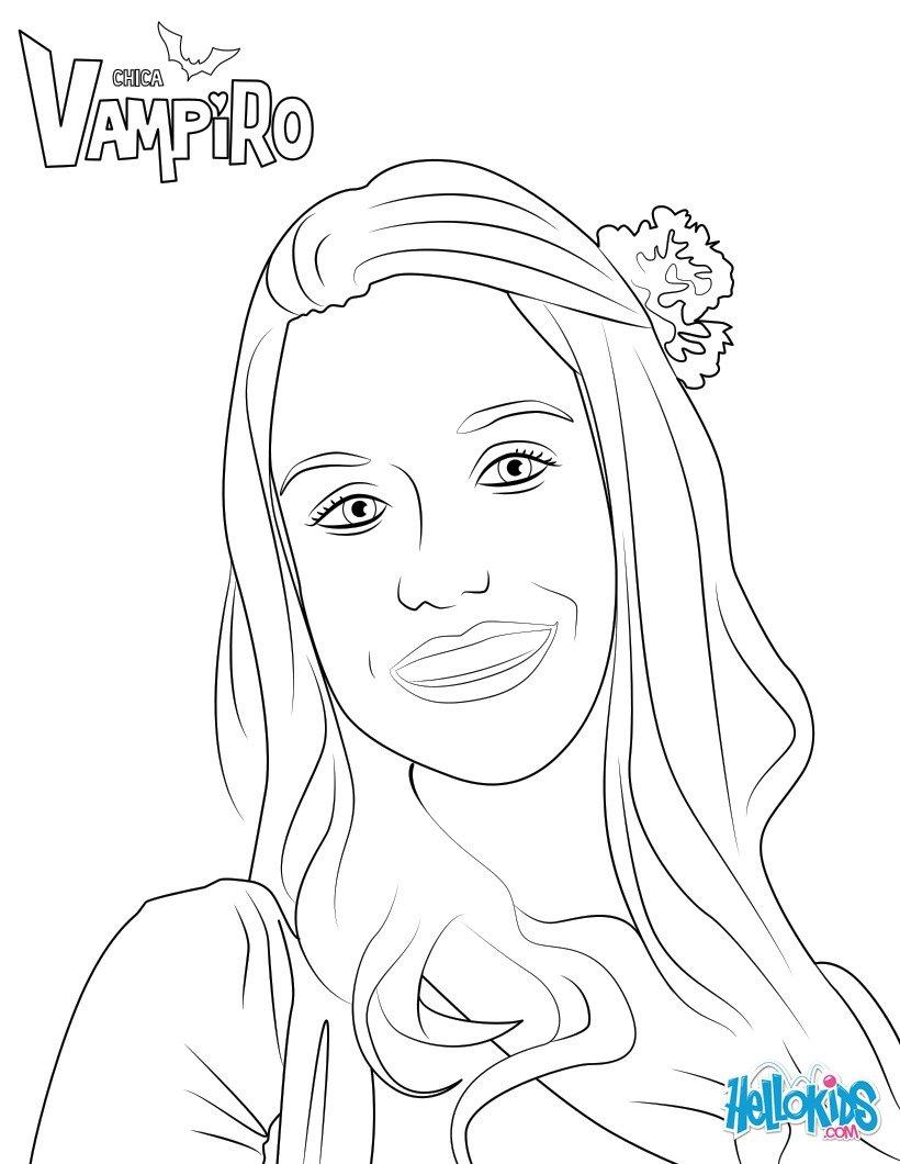 Dibujos Para Colorear Marylin De Chica Vampiro Es