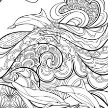 Dibujo para colorear : Motivos Art Decó