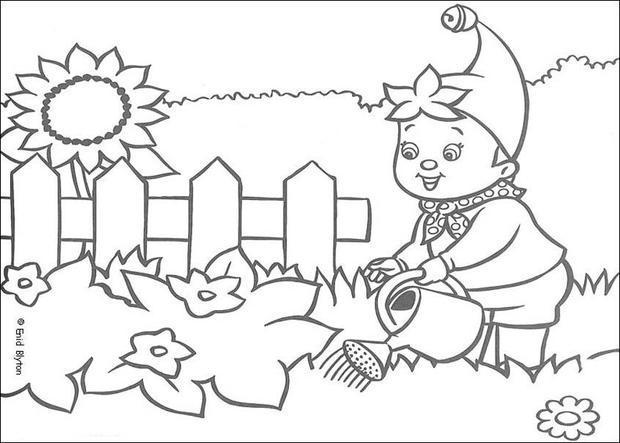 Dibujos Para Colorear Noddy Riega El Jardín Eshellokidscom