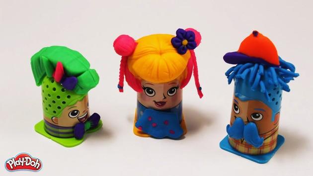 Manualidad infantil: Peinados con plastilina - La peluquería Play-Doh
