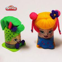Manualidad infantil : Peinados con plastilina - La peluquería de Play-Doh