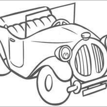 Dibujo para colorear : El coche de Noddy