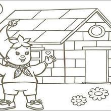 Dibujo para colorear : La casa de Noddy