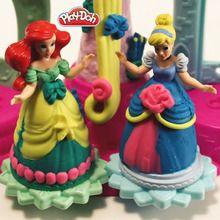 Manualidad infantil : Vestidos de princesas Disney en plastilina