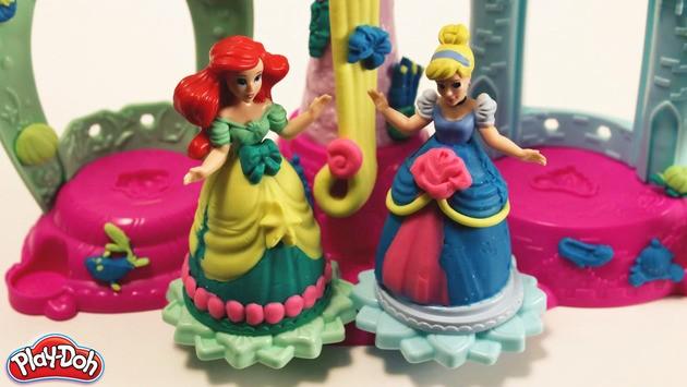 Manualidad infantil: Vestidos de princesa en plastilina