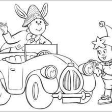 Dibujo para colorear : Noddy y Orejas