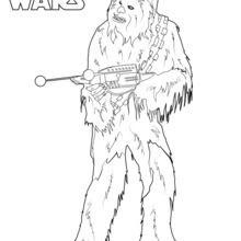 Dibujo para colorear : Chewbacca Episodio 7