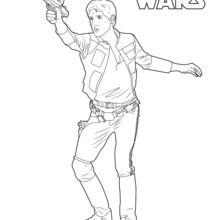 Dibujo para colorear : Han Solo Episodio 7