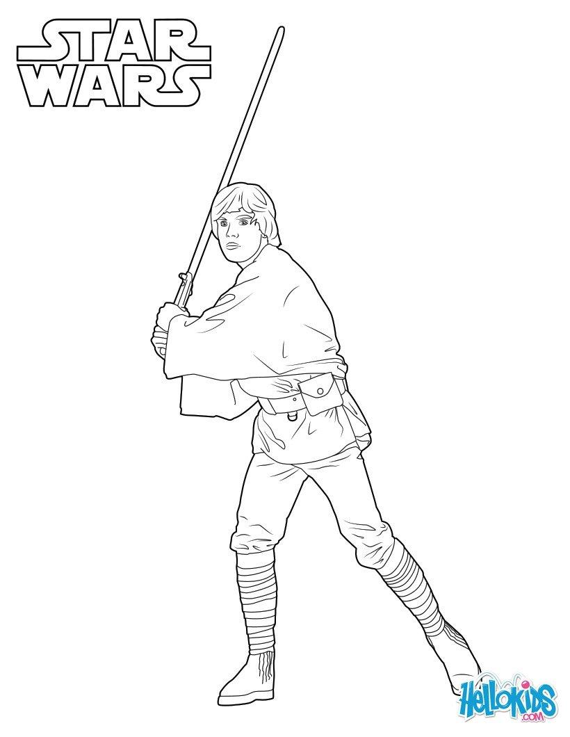 Dibujos para colorear luke skywalker episodio 7 - es ...
