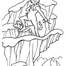 Dibujo para colorear : El Grinch con su perro Max