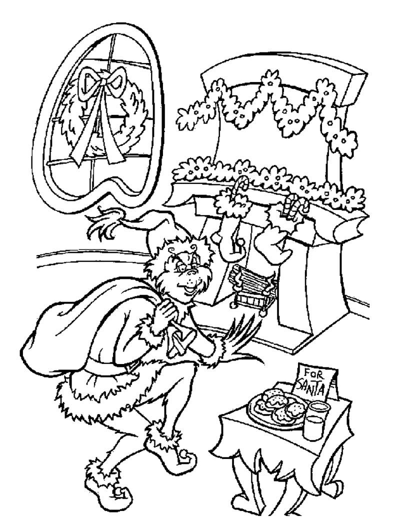 Dibujos para colorear el grinch disfrazado de santa claus - es ...