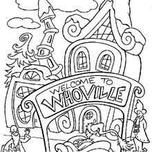 Dibujo para colorear : Whoville la ciudad del Grinch