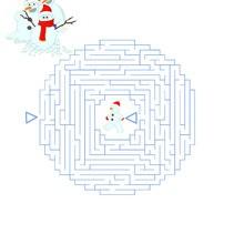 Página para imprimir : Muñeco de nieve
