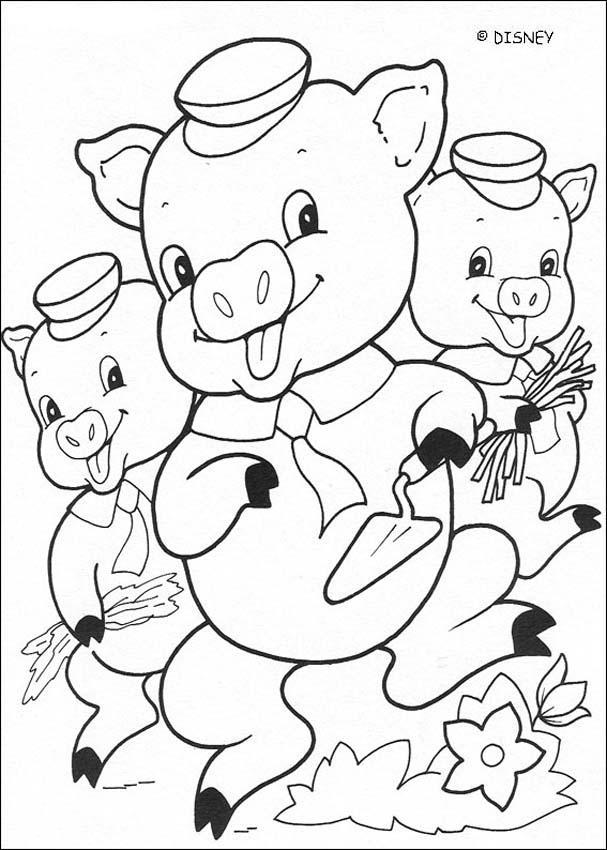 Dibujos para colorear los 3 cerditos  eshellokidscom