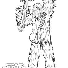 Dibujo para colorear : Chewbacca, el Wookie