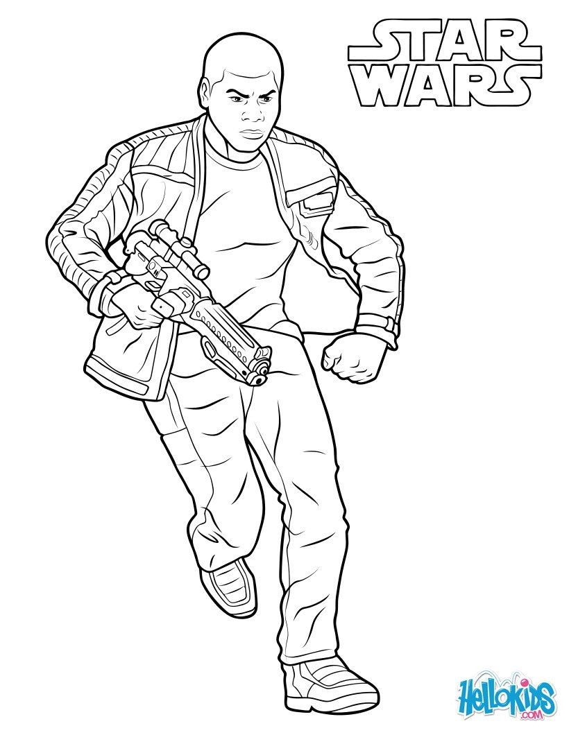 Dibujo para colorear : Finn - The Force Awakens