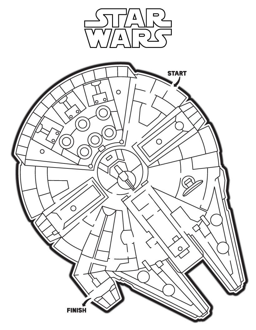 Dibujos Para Colorear Laberinto Del Halcon Millenario De Star Wars Es Hellokids Com