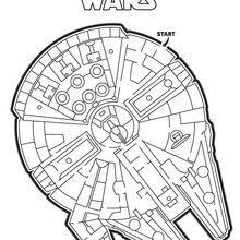 Dibujo para colorear : Laberinto del Halcon Millenario de Star Wars